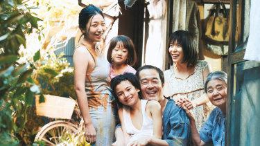 Playing happy families in Shoplifters.
