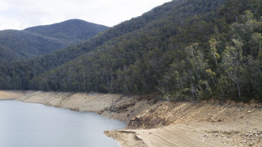 Low rainfall continues to deplete water levels at Corin Dam.