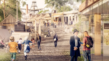 An artist's impression of what Sovereign Hill will look like after the $10 million upgrade.
