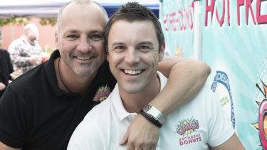 Former Drift restaurateur David Moore (left) with partner Andrew Clarke.