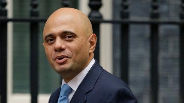 British Home Secretary Sajid Javid.