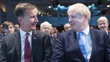 Jeremy Hunt and Boris Johnson await the Tory leadership result.