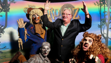 Simon Gallaher (top-right) has exited the production of Wizard of Oz.