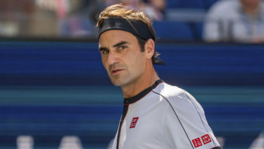 Roger Federer at the US Open in August.