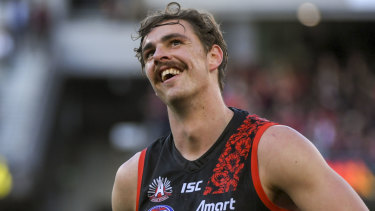 Staying put: Joe Daniher's trade request failed to get done.
