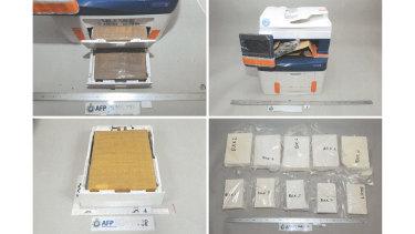 The cocaine was hidden in Xerox multifunction printers.