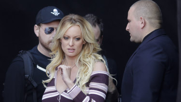 Stormy Daniels in Berlin last week.
