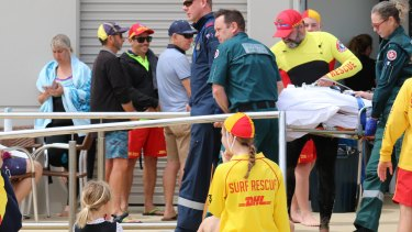 Paramedics attended to him when he was removed from the water.