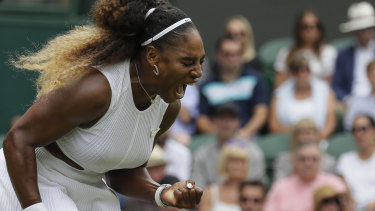 Record within shouting distance: Serena Williams.