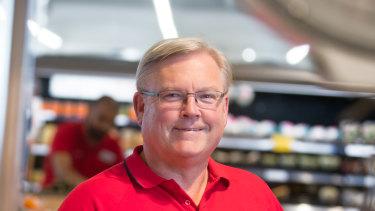 Coles CEO Steven Cain.