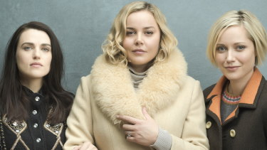 Katie McGrath, Abbie Cornish and Georgina Haig star in Channel Seven's Secret Bridesmaids' Business.