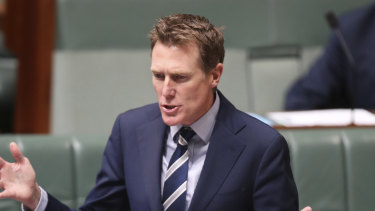 """Federal Industrial Relations Minister Christian Porter denounced Victoria's plan as """"employment killing""""."""