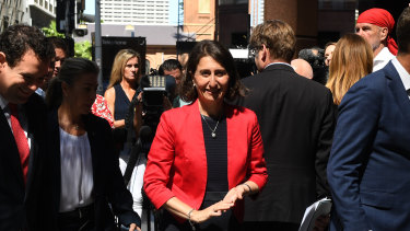 """Premier Gladys Berejiklian said she was """"genuinely pleased"""" with the government's stadium decision."""