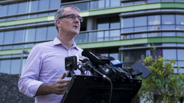 """NSW Opposition Leader Michael Daley said residents were """"shell-shocked""""."""