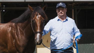 Gary Portelli at his Warwick Farm stables.