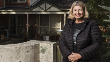 Valerie Bryant has installed a battery to store electricity at her home in Kirrawee.