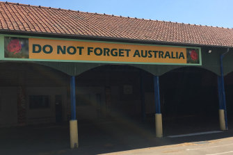 The sign in the primary school quadrangle is a reminder of ties forged between the two countries more than a century ago.