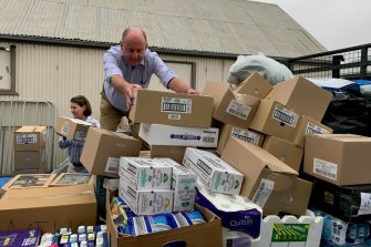 Thousands of items have been donated to communities affected by bushfires.