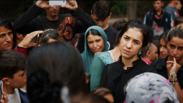 Nadia Murad is the subject of Alexandria Bombach's <i>On Her Shoulders</i>.