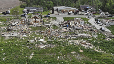 The damage caused by the tornado that swept through Ohio this week.