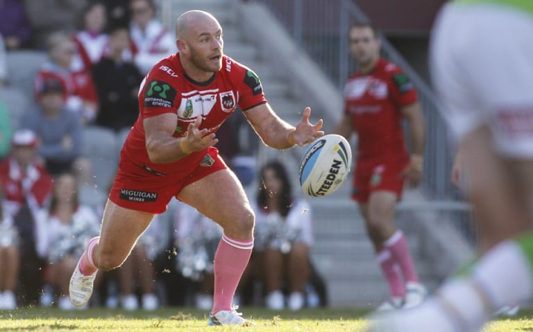 Heath L'Estrange when he played for the St George Illawarra Dragons.