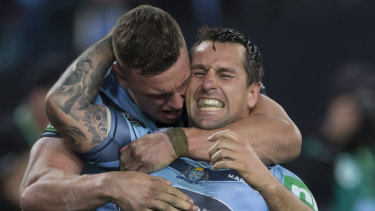 Victory is sweet for MItchell Pearce and the Blues.