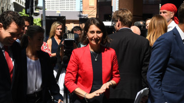 "Premier Gladys Berejiklian said she was ""genuinely pleased"" with the government's stadium decision."