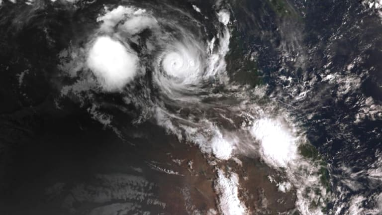 Tropical Cyclone Owen is rapidly gathering strength over the warm waters of the Gulf of Carpentaria.