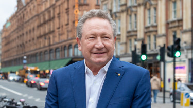 Fortescue Metals Group chairman Andrew Forrest in London.
