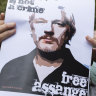 Protests in support of Julian Assange, Martin Place, Sydney, February 24, 2020.