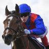 Craig Williams pilots Zaaki home in the Underwood Stakes at Sandown.