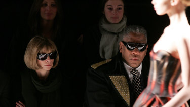 Vogue Editor-in-Chief Anna Wintour and Andre Leon Tally in 2007.