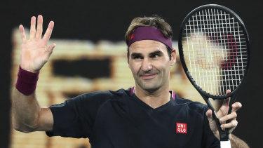 Roger Federer is taking his tennis online during lockdown.
