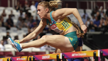 Sally Pearson in the heats of the 100m hurdles at the 2017 world championships, a meet that ended with a historic against-the-odds victory for the Olympic gold and silver medallist.