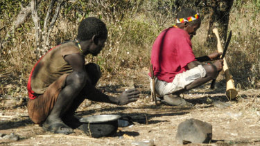 The Hadza squat. For hours. Legs folded, bum held high off the dirt.