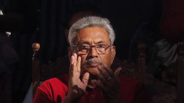 Former defence minister and now President Gotabaya Rajapaksa.