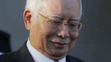 Former prime minister Najib Razak.