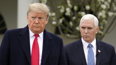US President Donald Trump and Vice-President Mike Pence last year.