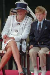 Princess Diana and Prince Harry in 1995.
