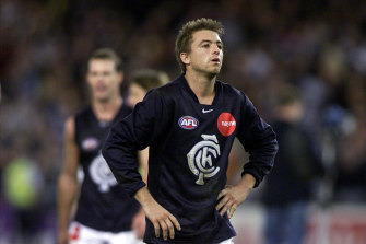 A disappointed Matthew Lappin after the loss to the Cats.