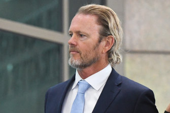 Craig McLachlan arrives at court on Friday.