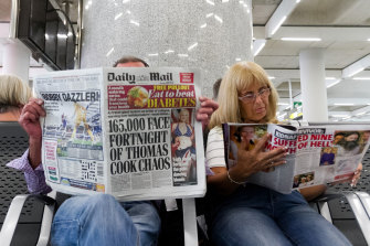 British passengers wait for news on cancelled Thomas Cook flights in Spain.