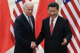Joe Biden and Xi Jinping, pictured in 2013.