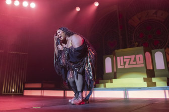 Lizzo performing in Washington in September.