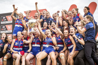 Western Bulldogs, AFLW premiers for 2018. This year's grand final will not clash with a men's AFL game.