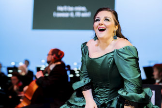 Sicilian mezzo soprano Chiara Amaru in the stripped back but brilliant Barber of Seville.