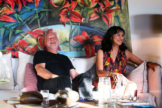 Polly Samson and her musician husband David Gilmour.