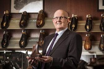 Second generation shoe maker and Mc Cloud Shoes owner, Peter Parkinson.