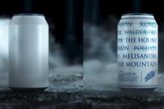 A can has no name: Mountain Dew pays tribute to Game of Thrones.