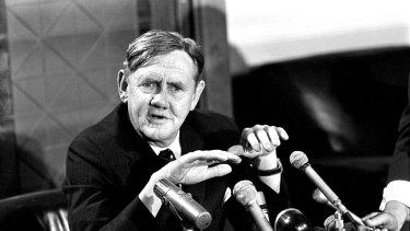 Prime Minister John Gorton at Parliament House in Canberra on 7 November 1969.